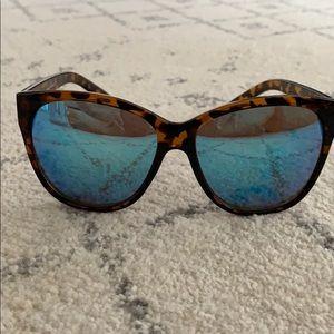 QUAY tortoise sunglasses with blue lenses